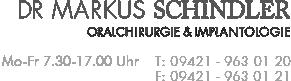 Dr. Markus Schindler - Oralchirugie & Implantologie